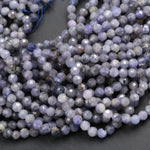 "Genuine Real Natural Tanzanite Round Beads 3mm 3.5mm 4mm Faceted Micro Cut Tiny Small Faceted Round Beads Gemstone 16"" Strand"