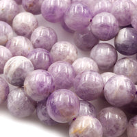 "Natural Amethys Beads Large 16mm Round Light Violet Purple Gemstone 16"" Strand"