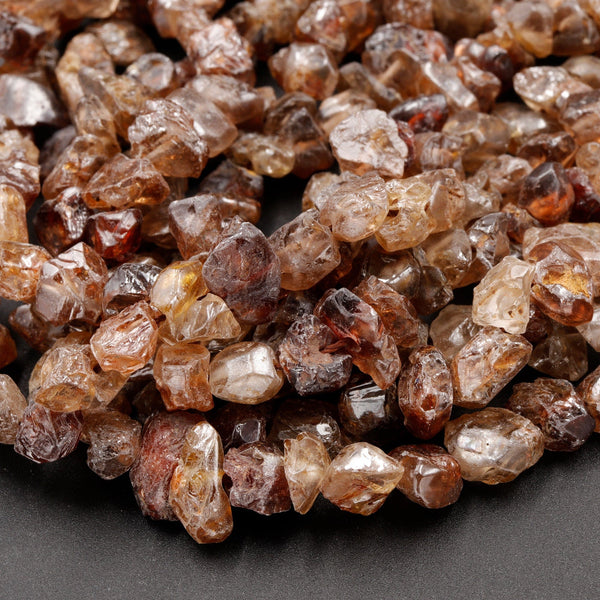 "Natural Raw Unpolished Zircon Freeform Nuggets Rough Nuggets Beads 16"" Strand"