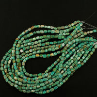 "Natural Turquoise Freeform 8mm Pebble Nuggets Highly Polished Genuine Real Stunning Green Brown Turquoise Gemstone Beads 16"" Strand"