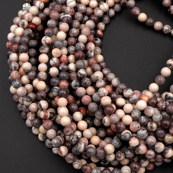 "Natural Porcelain Jasper Beads 4mm 6mm 8mm 10mm Exotic Jasper From Mexico 16"" Strand"