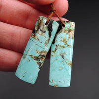 Natural Turquoise Earring Pair From Anhui Mine Cabochon Cab Pair Drilled Matched Earrings Bead Pair E2227