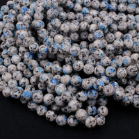 "Faceted K2 Jasper Granite 8mm Round Beads 16"" Strand"