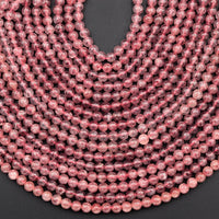 "AAA Natural Strawberry Quartz 6mm 8mm 10mm Round Beads Real Genuine Natural Pink Red Quartz Extremely Translucent Gemstone Beads 16"" Strand"