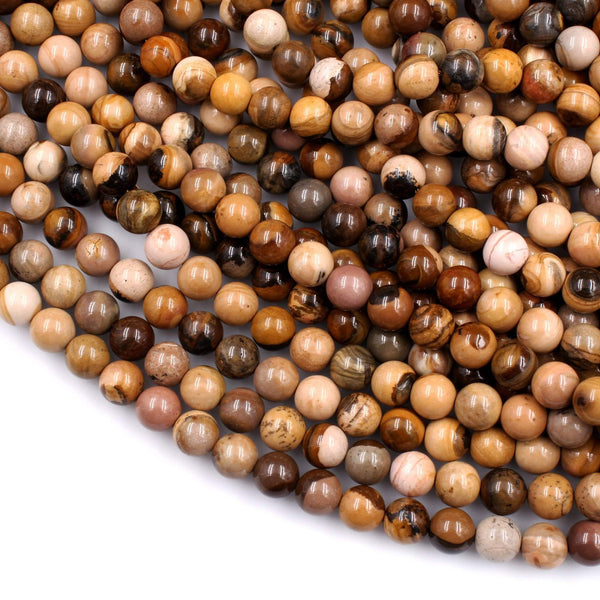 "Rare Natural Royal Sahara Jasper 6mm 8mm 10mm Round Beads ONLY FROM STONESDIRECT 16"" Strand"