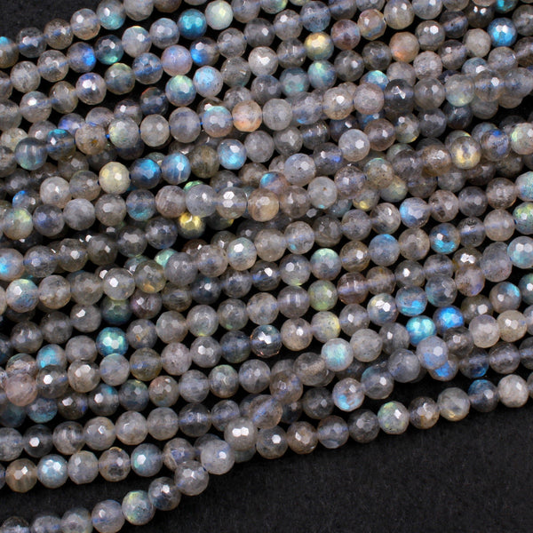 LAB-0791 18 cm 56 pieces Semiprecious Gemstone Beads Quality AA Labradorite Faceted Onion Beads 6 to 6.50 mm