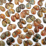 Natural Red Creek Jasper Freeform Earring Pair Cabochon Cab Drilled Matched Gemstone Bead Pair Aka Multicolor Picasso Jasper