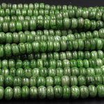 "Natural Chrome Diopside Smooth Rondelle 6-7mm Beads 16"" Strand"