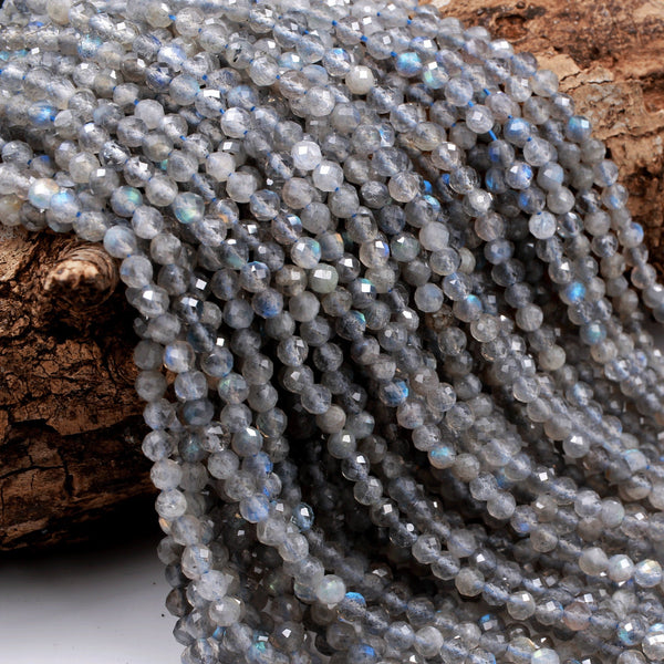 Approx 15 strand of 8x5mm faceted rondelle Labradorite #LAB-012 75 natural dark grey gemstone stone beads