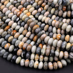 "Natural Picasso Jasper Plain Smooth 6mm 8mm Rondelle Beads 16"" Strand"