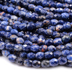 "Natural Orange Sodalite Faceted Drum Barrel Oval Beads 6mm Blue Orange Gemstone 16"" Strand"