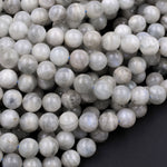 "Rare! Natural Siberian Moonstone 6mm 8mm 10mm 12mm Round Beads Exclusively From Us 16"" Strand"