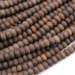 "Matte Natural Bronzite Rondelle 6mm 8mm Beads High Quality A Quality Excellent Quality 16"" Strand"