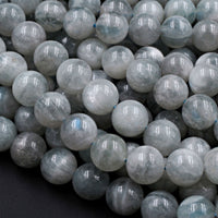 "Rare! Natural Green Siberian Moonstone 8mm 10mm 12mm Round Beads Blue Flashes Exclusively From Us 16"" Strand"