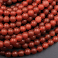 "AAA Matte Natural Carnelian 4mm 6mm 8mm 10mm Round Beads Natural Red Gemstone 16"" Strand"