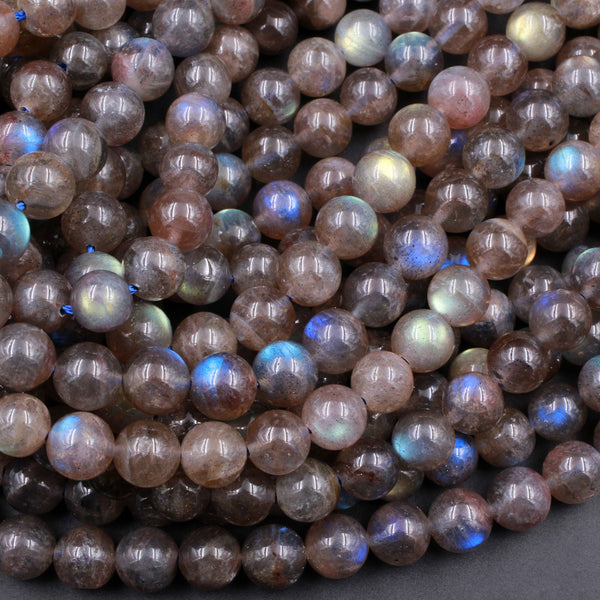"Extremely Rare! Natural Red Labradorite 6mm 8mm 10mm 12mm Round Beads High Quality AAA grade Blue Red Natural Labradorite 16"" Strand"