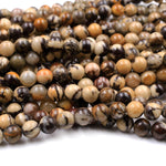 "Natural Australian Outback Jasper Beads 8mm Round Beads 16"" Strand"