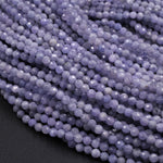 "Genuine Real Natural Tanzanite Round Beads 2mm 3mm 3.5mm 4mm Faceted Micro Cut Gemstone 16"" Strand"