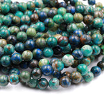 "Rare Azurite Chrysocolla Beads 6mm 8mm 10mm Genuine Real 100% Natural Blue Azurite Green Chrysocolla From Arizona 16"" Strand"