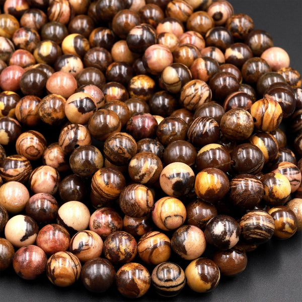 "Natural Australian Outback Jasper Beads 6mm 8mm 10mm Round Beads 15.5"" Strand"