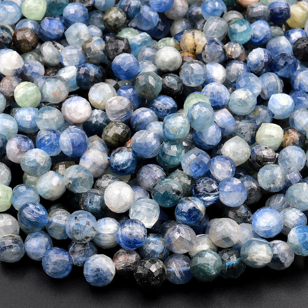 6mm Kyanite Gemstone Grade A Deep Blue Round 6mm Loose Beads 15.5 inch Full Strand LOT 1,2,6,12 and 50 90184226-855