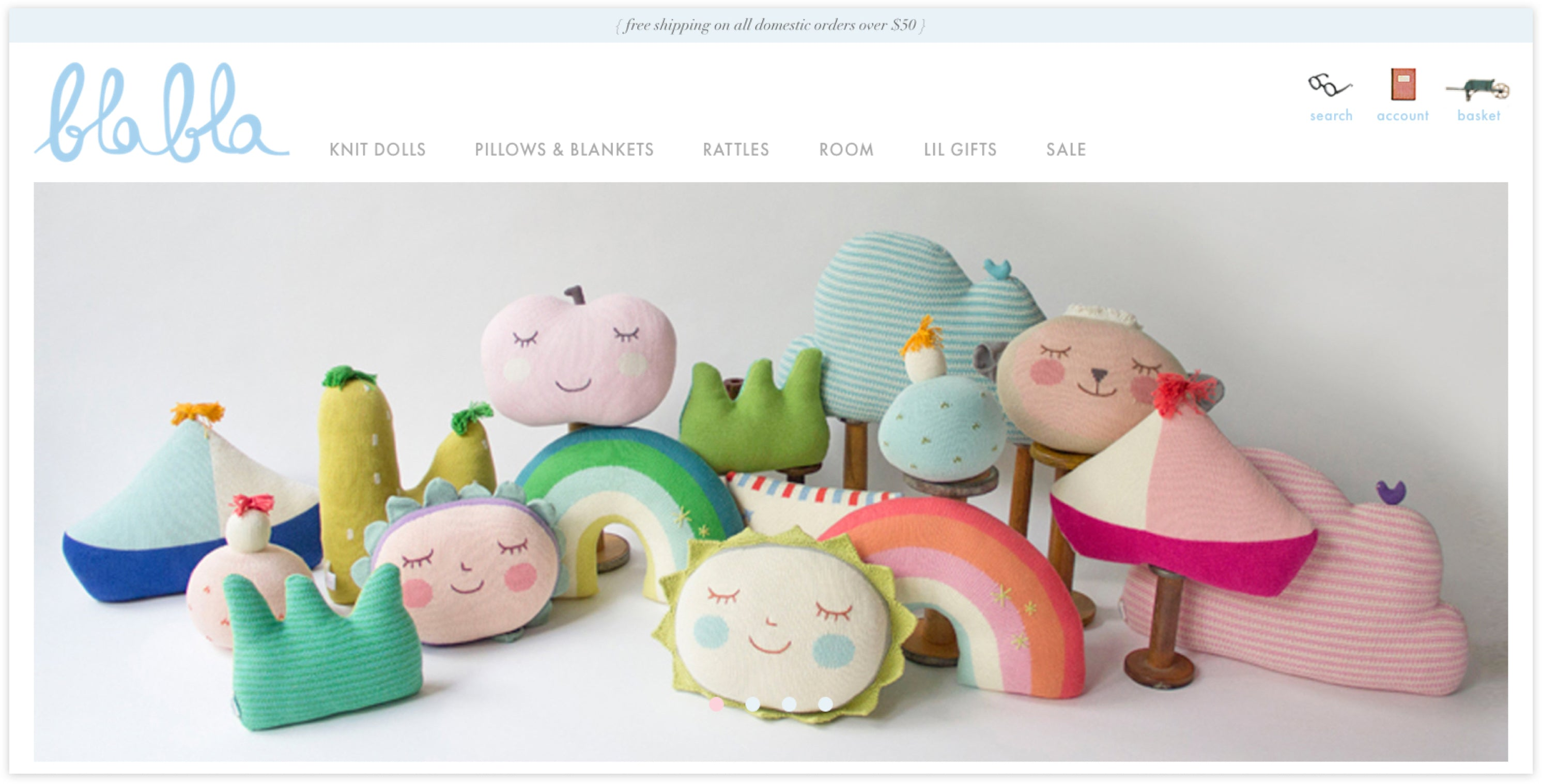 BlaBla Kids Homepage, Custom Shopify Site, whimsical and fun