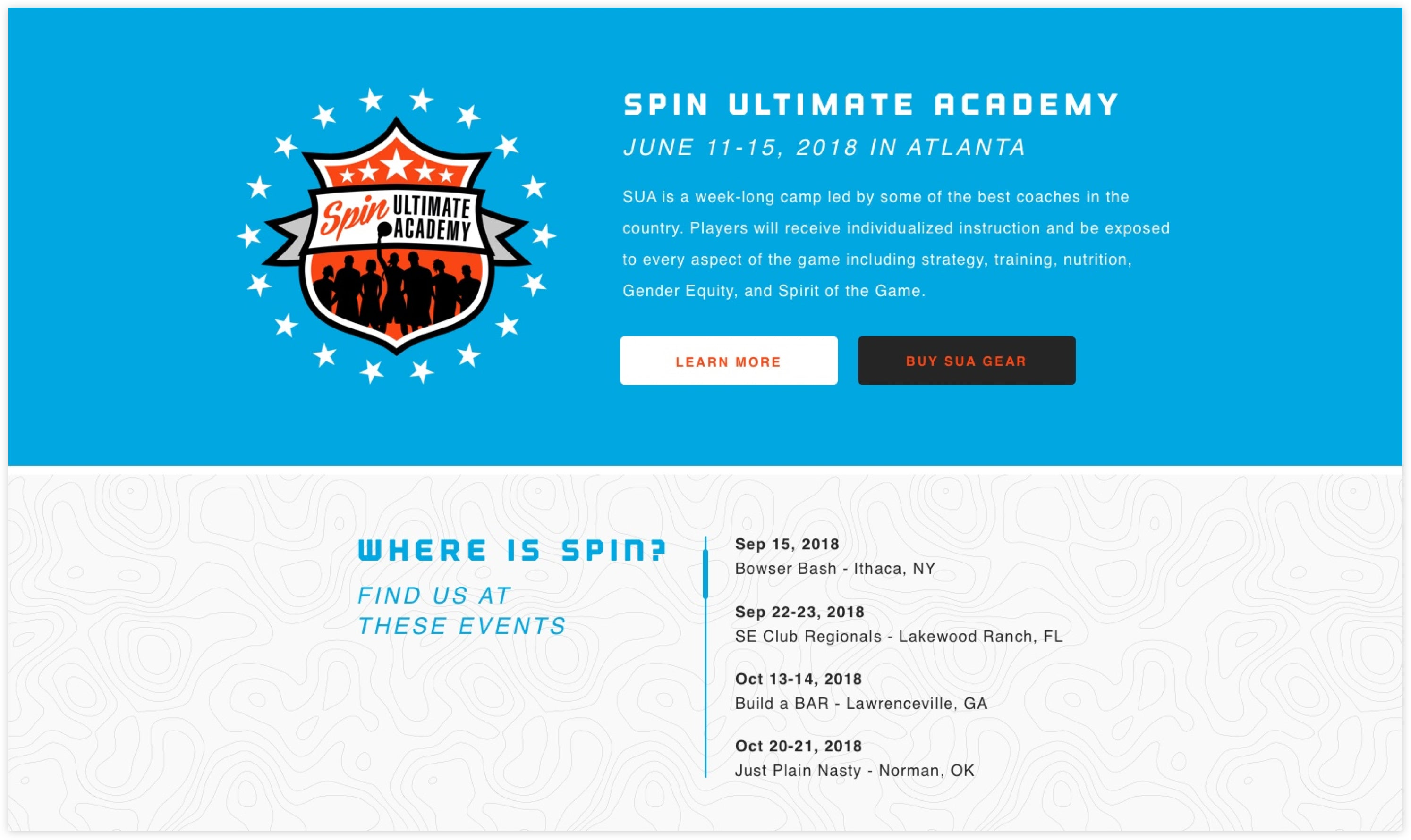 Spin Ultimate Homepage Detail, Custom Shopify Site, Youthful and Energetic