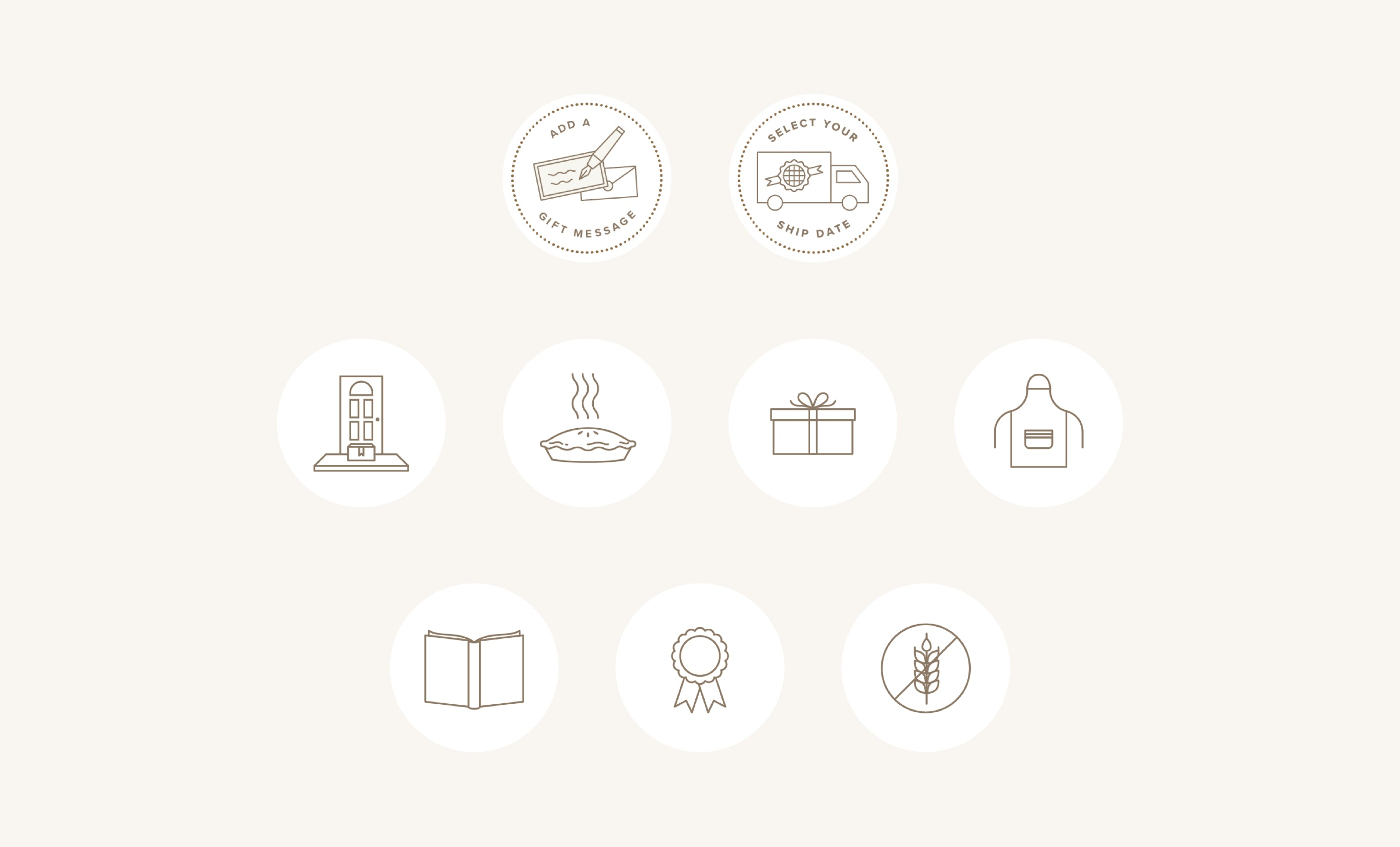 Southern Baked Pie Custom Icons, Iconography and subscription service, sweet and southern