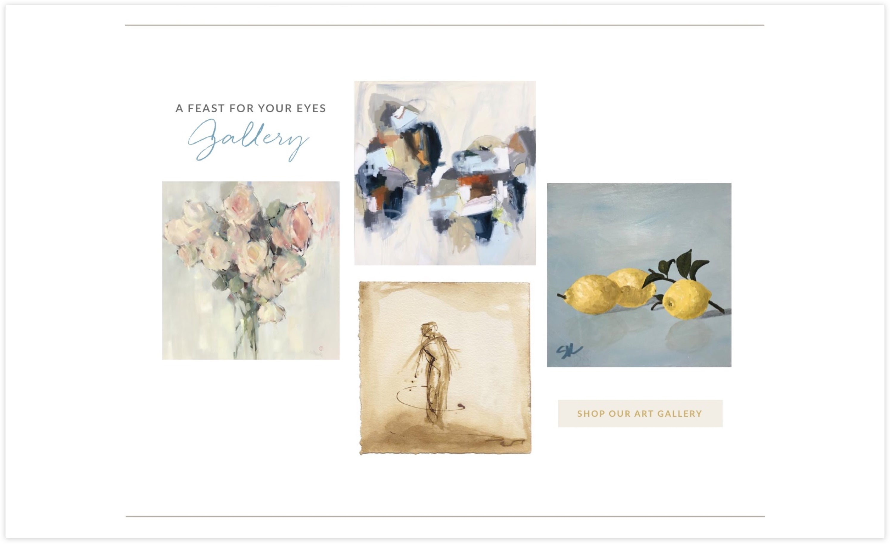 Huff Harrington Gallery Shop, Custom Shopify Site, Sophisticated and Artistic
