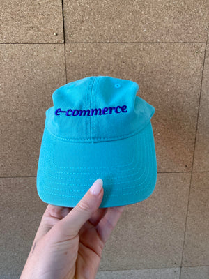 e-Commerce Dad Hat in Teal