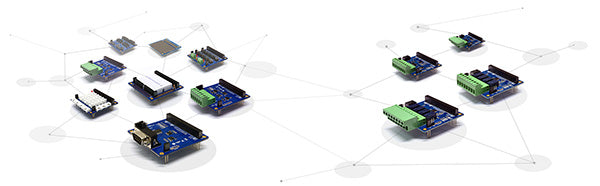 Expansion Boards and Smart Expansion Boards for PHPoC IoT Programmable Development Boards