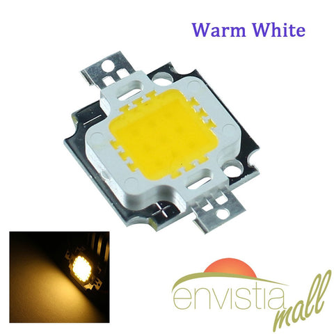 10W LED Warm White 3000-3500K Super Bright High Power SMD COB Light Emitting Diodes 1-10 Pieces - Envistia Mall