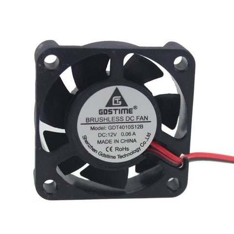 12V 40mm x 40mm x 10mm 4010S DC Brushless 2-pin CPU / Laser / Printer Cooling Fan - Envistia Mall
