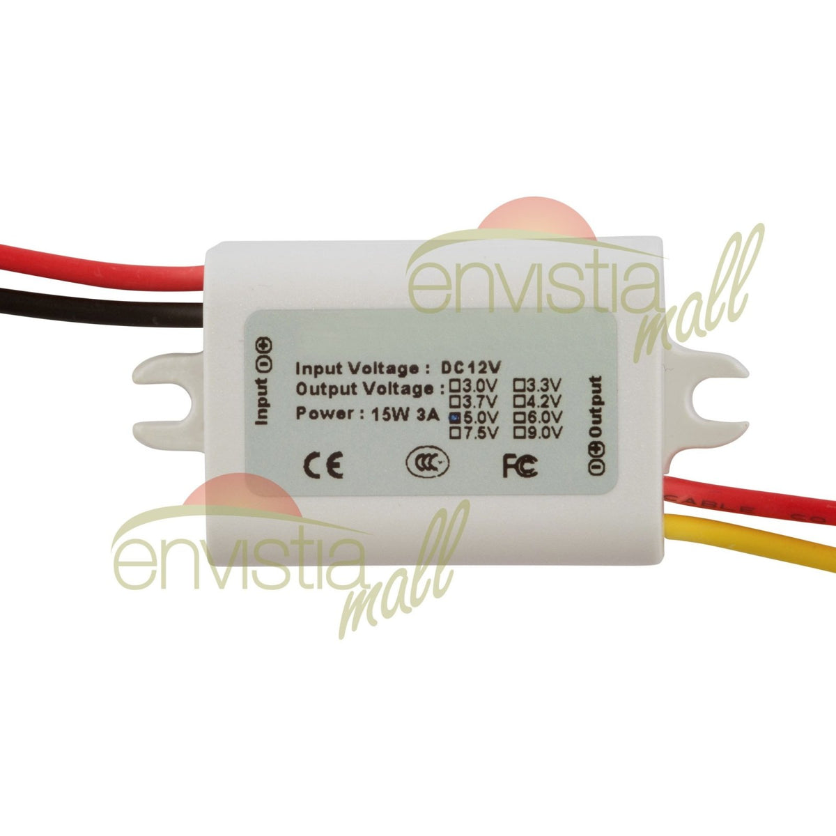 Waterproof DC-DC Converter 12V Step Down to 5V USB Power Supply Module 3A 15W@US