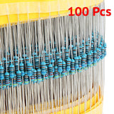 1/4W 1% Metal Film Resistors 100 Piece Packs 3.3 / 10 / 51 /220 / 330 / 470 / 10K Ohm Values - Envistia Mall