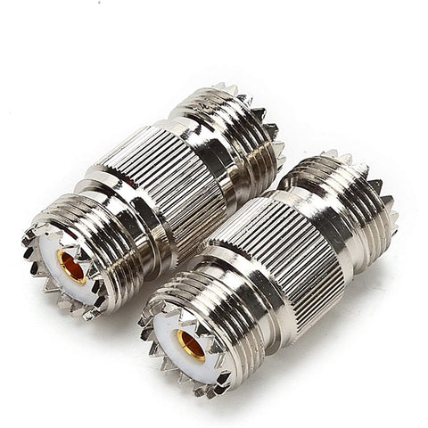 2 Pieces SO-239 UHF Female to Female Coupler RF Coaxial Adapter Barrel Connectors - Envistia Mall