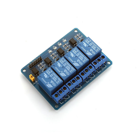 250V/10A 4 Channel SPDT Power Relay Module 5V Control for DIY PIC AVR DSP ARM MCU Arduino - Envistia Mall