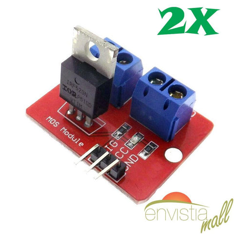 2Pcs IRF520 24V MOSFET Driver Module for Raspberry Pi Arduino ARM Robotics - Envistia Mall