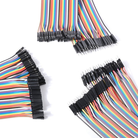 3 x 40Pin (120 Pieces) 20cm DuPont 1P-1P Wire Jumper Cables Pin-Pin, Pin-Socket & Socket-Socket - Envistia Mall