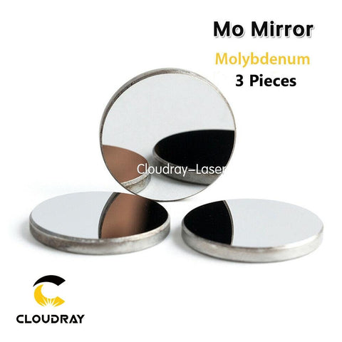 3x Mo Molybdenum Mirrors 20 & 25mm for CO2 Laser Engraving Cutting - Envistia Mall