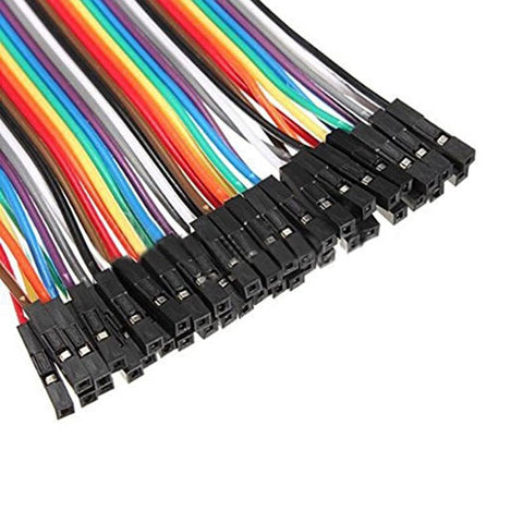 40Pin 20cm DuPont 1P-1P Wire Jumper Cables Socket to Socket (F-F) - Envistia Mall