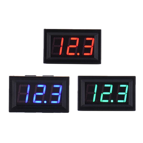 "4.5-30V DC Two-Wire 0.56"" Red / Green / Blue LED Panel Mount LED Digital Voltmeter Voltage Meter - Envistia Mall"