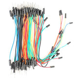 65 Piece Solderless Breadboard DuPont Male-Male Jumper Cable Wire Prototyping Kit - Envistia Mall