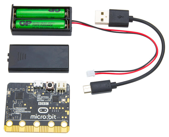 BBC micro:bit Go MB158-US Single Board Pocket Sized Computer Bundle Kit