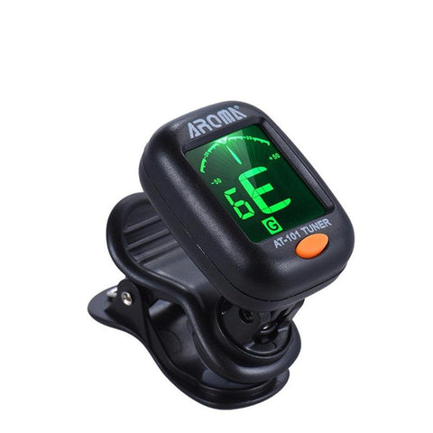 Aroma AT-101 Guitar, Bass, Violin, and Ukulele Chromatic Clip-On Digital Tuner - Envistia Mall