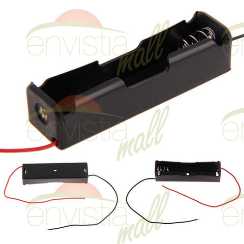 "Battery Holder Case Box for 1X 18650 3.7V Li-Ion with 6"" Wire Leads - Envistia Mall"