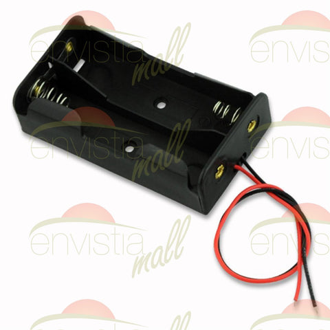 "Battery Holder Case Box for 2X 18650 8V Li-Ion Batteries with 6"" Wire Leads - Envistia Mall"