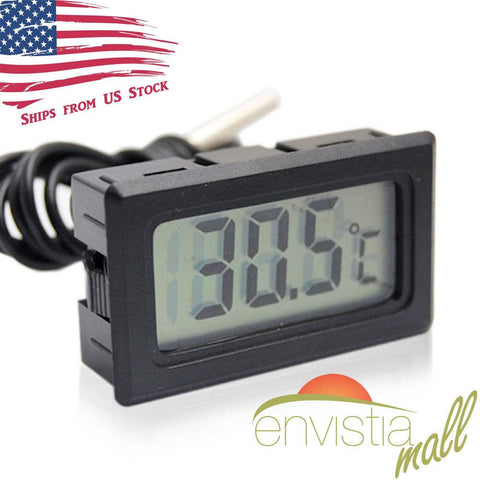 Digital LCD Display Temperature Meter Thermometer Sensor with Probe - Envistia Mall