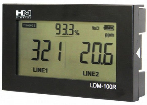 LDM-100R Dual Input Digital In-Line TDS Total Dissolved Solids Water Quality Test Meter - Envistia Mall