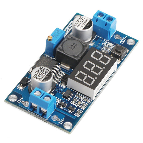 LM2596 DC-DC 4V-40V In / 1.3V to 35V Out 3A Buck Step Down Voltage Converter Module with Voltmeter - Envistia Mall